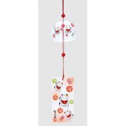 Furin - dzwonek wietrzny kotek maneki neko