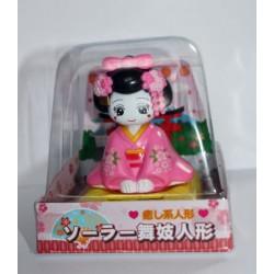Zabawka solarna - maiko różowa kłania się