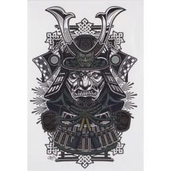 Tatuaż zmywalny duży - samuraj grafika