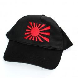 Czapka baseballówka z banderą Japonii czarna
