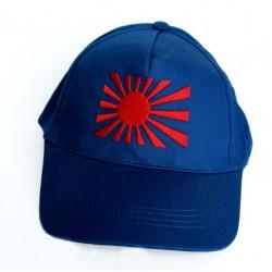 Czapka baseballówka z banderą Japonii granatowa