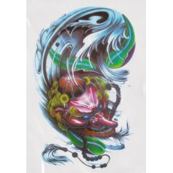 Tatuaż zmywalny duży - maska demona tengu