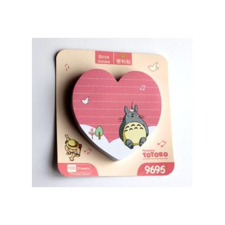 Notes 100 kartek Totoro serce różowy