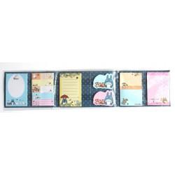 8-częściowy zestaw notesów z Totoro granatowy