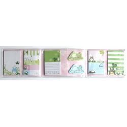 8-częściowy zestaw notesów z Totoro zielony