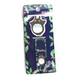 Dwupak zakładek magnetycznych do książki - Totoro granat