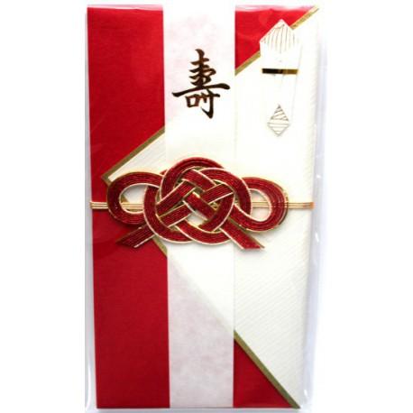 Japońska kartka okolicznościowa (czerwona)