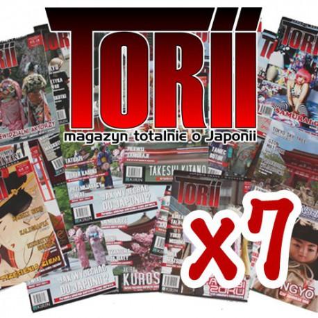 Magazyn Torii dowolne numery - pakiet 7 egzemplarzy
