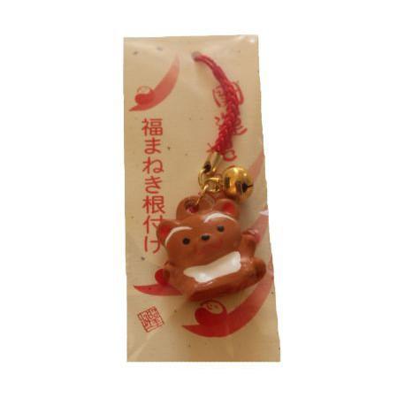 Zawieszka z dzwonkiem ceramiczna tanuki