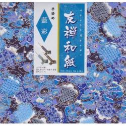 Papier do origami wypukły wzór granatowo-złoty 5 szt.