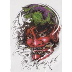 Tatuaż zmywalny duży - demon oni