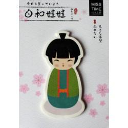 Karteczki samoprzylepne memo chłopiec w kimonie