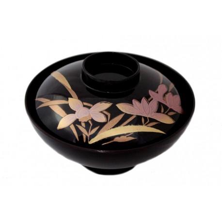 Miseczka akrylowa z wieczkiem - irys czarna
