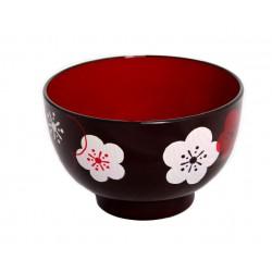 Miseczka akrylowa Aizu - kwiaty śliwy czarna