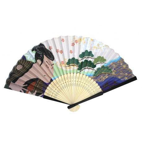 Wachlarz składany bambusowy kabuki