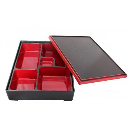 Pudełko bento duże czarne z przegródkami