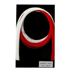 Sznurki do mizuhiki - biało-czerwone 25 szt