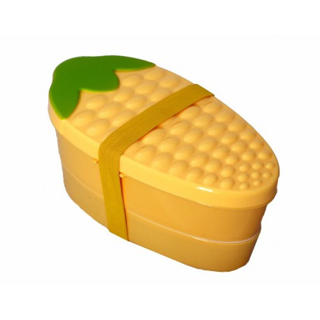 Pudełko bento średnie 2-piętrowe kukurydza