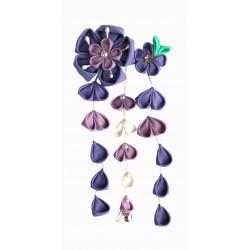 Spinka do włosów z kwiatami wisterii - fioletowa