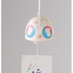 Furin - dzwonek wietrzny króliki bańki świeci w ciemności