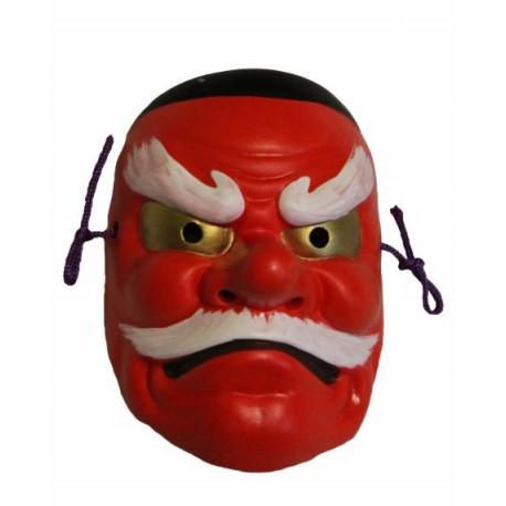 Maska ceramiczna - tengu średnia 9 cm