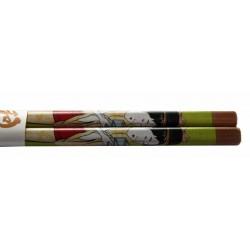 Pałeczki bambusowe drzeworyt gejsza wzór 1