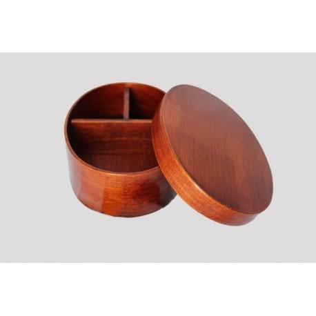 Pudełko bento drewniane z przegródkami