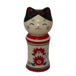 Ceramiczna figurka kokeshi-maneki neko