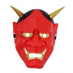 Maska plastikowa na cosplay - japoński demon czerwona