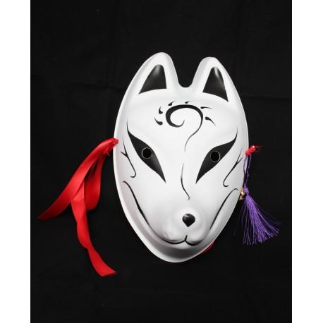 Maska plastikowa na cosplay - japoński lis Inari czarna - outlet