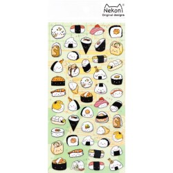 Naklejki sushi złocenia