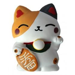 Magnes 3D z kotkiem maneki neko duży 7 cm