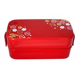 Pudełko bento duże 2-piętrowe czerwone