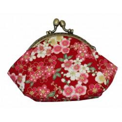 Portmonetka kimonowa - czerwona
