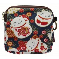 Portmonetka z japońskim wzorem - kotek maneki neko