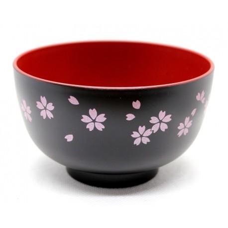 Miseczka akrylowa - kwiaty wiśni czarna