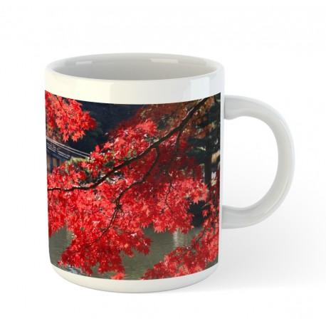 Kubek ceramiczny - momiji czerwone liście klonu
