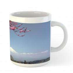 Kubek ceramiczny - Fuji i sakura