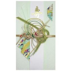 Ślubna kartka z żurawiem (zielona)