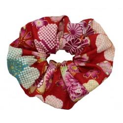 Gumka do włosów kimonowa - czerwona