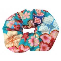 Gumka do włosów kimonowa - błękitna