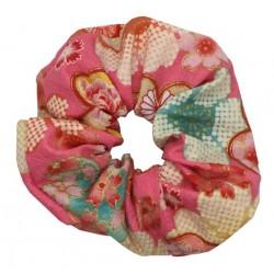 Gumka do włosów kimonowa - różowa