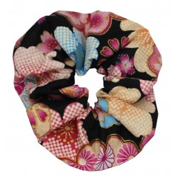 Gumka do włosów kimonowa - czarna