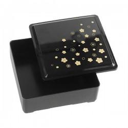 Pudełko bento jednokomorowe sakura czarne małe