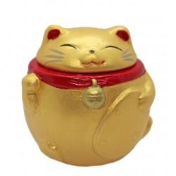 Ceramiczna figurka kotek maneki neko złoty